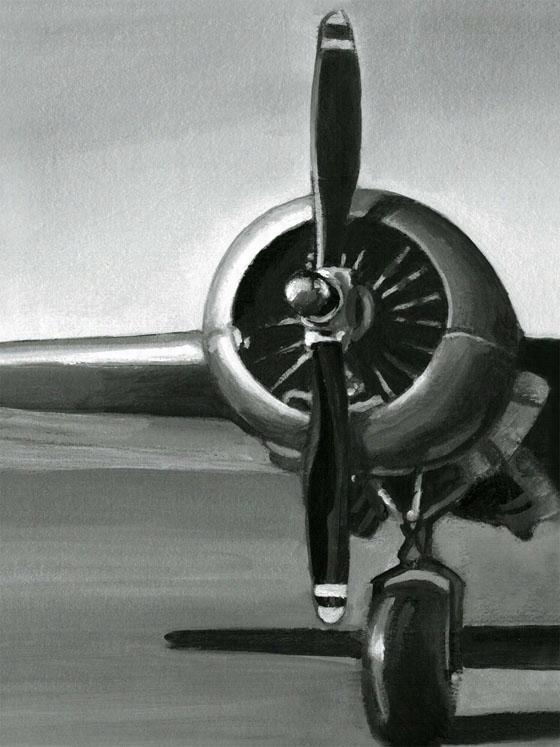 Vintage Flight Wall Art - I, Black And White