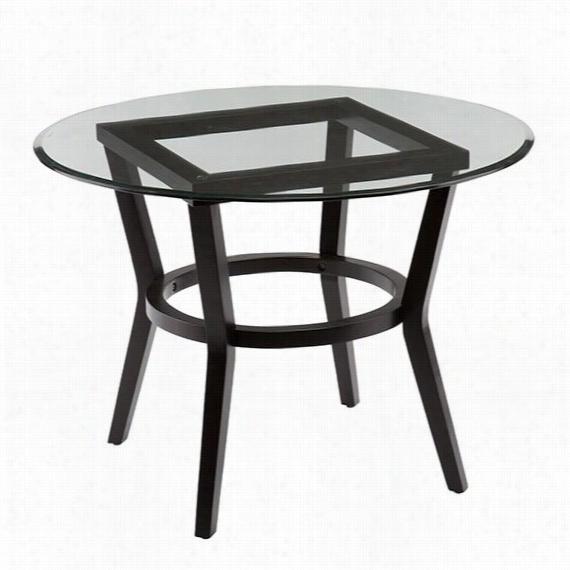 """Wilcox Dining Table - 30.25""""Hx48""""D, Black"""