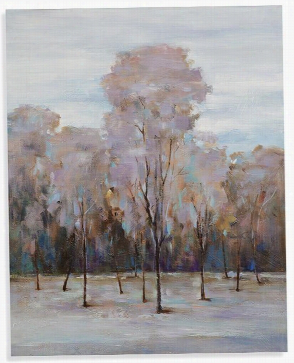 "Winter's Approach Canvas Wall Art - 50""Hx40""Wx2.5""D, Multi"