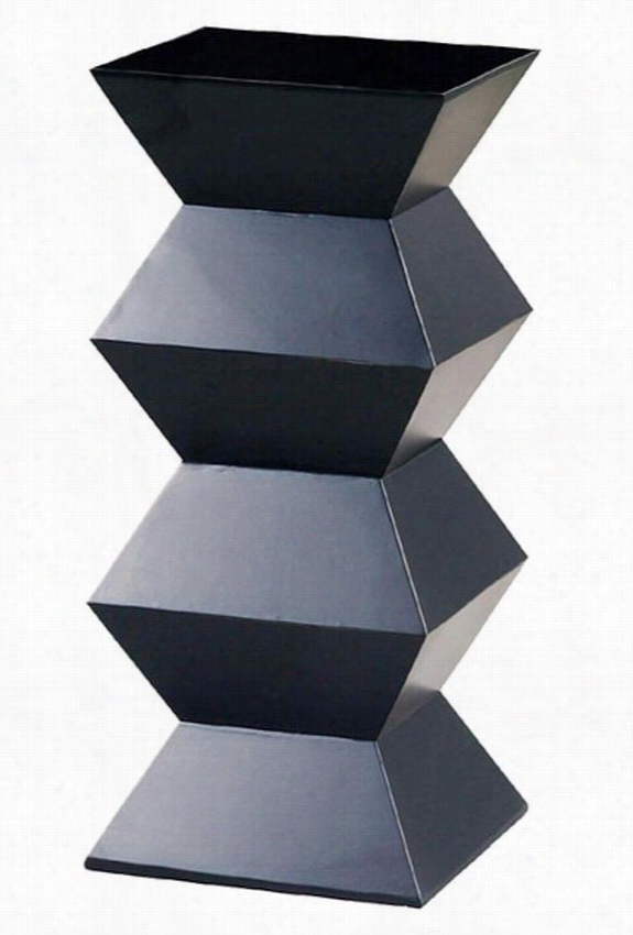 "Obit Pedestal - 36""Hx16""D, Black"