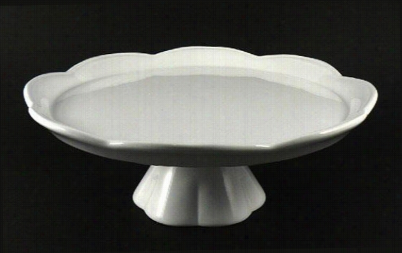 White Cake Pedestal - Large, White