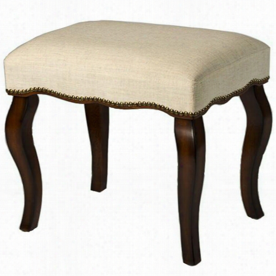 "Wyatt Vanity Stool - 19""Hx20.5""Wx15.75""D, Burnt Oak"