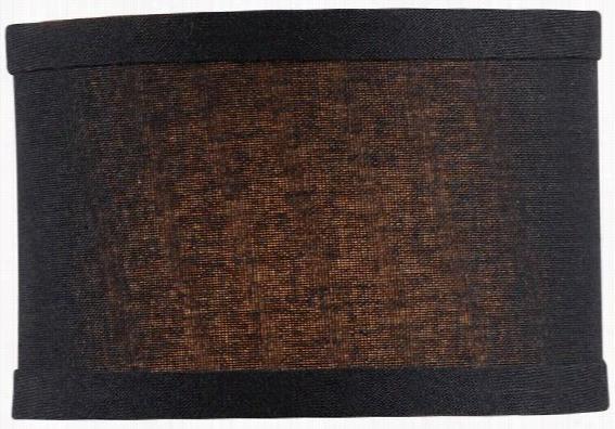 """Linen Drum Chandelier Shade - 4""""Hx6""""Diameter, Black"""
