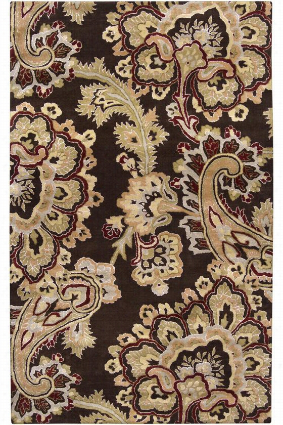 Myrna Area Rug - 9'X13', Chocolate Brown