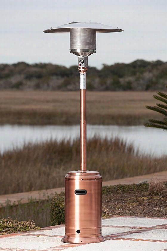 "Propane Patio Heater - 89""Hx18""Wx33""D, Copper"