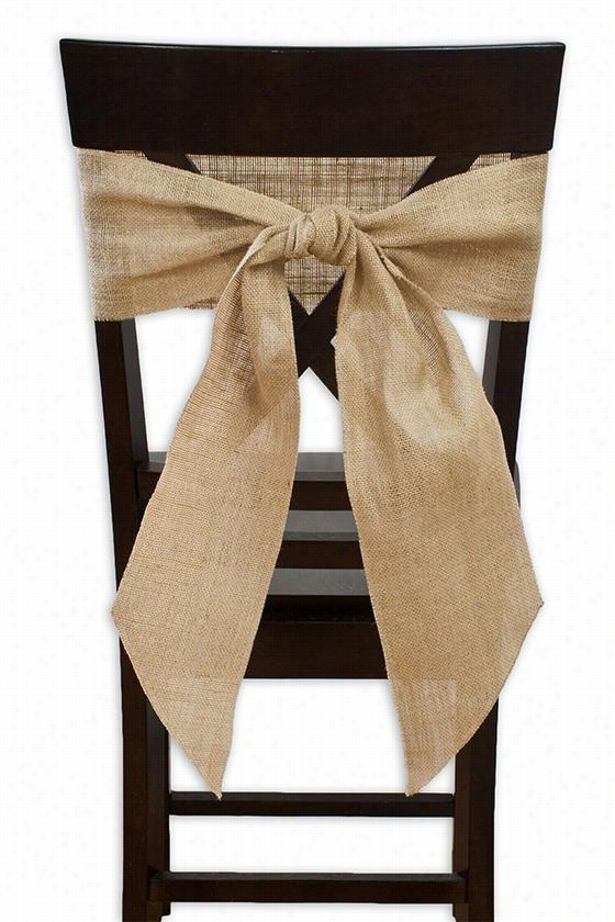Chair Ties - Set Of 2 - Set Of 2, Burlap Natural