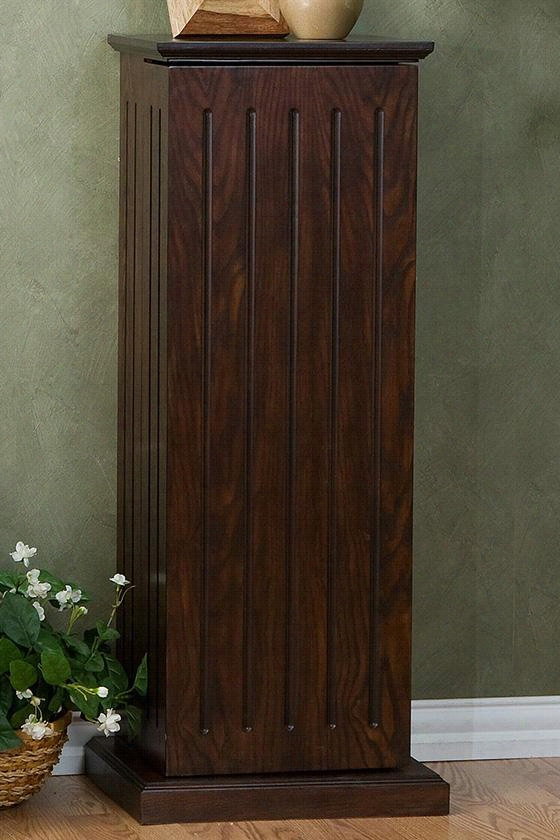 "Media Storage Pedestal - 38.5""Hx16""Wx13., Coffee Brown"