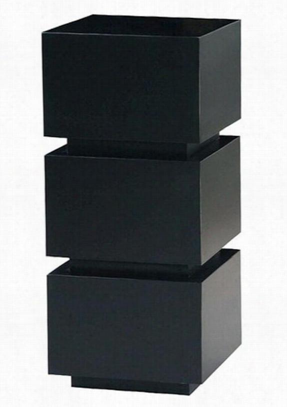 "Nathan Pedestal - 32""Hx16""Sq, Black"