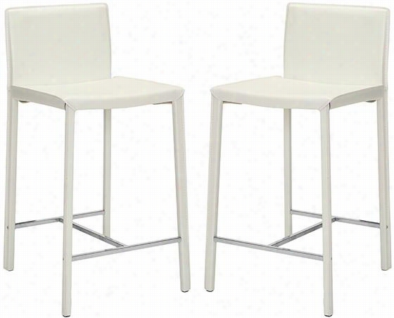 Zoey Counter Stool - Set Of 2 - Counter, White