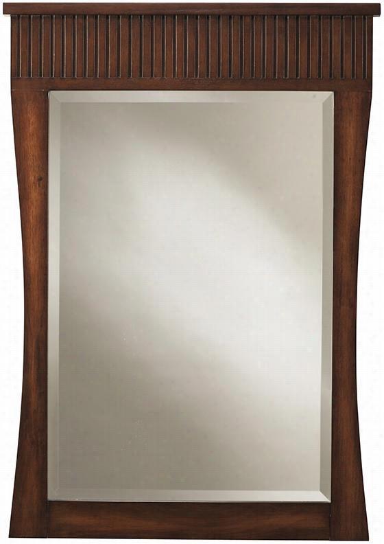 Fuji Mirror - 34Hx24wx1.3D, Old Walnut