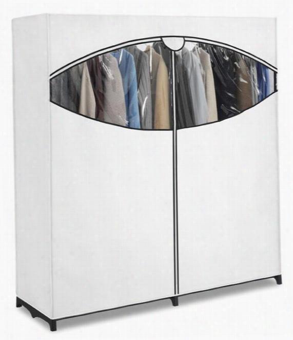 """Wide Clothes Closet - 64""""Hx60""""Wx20""""D, White"""