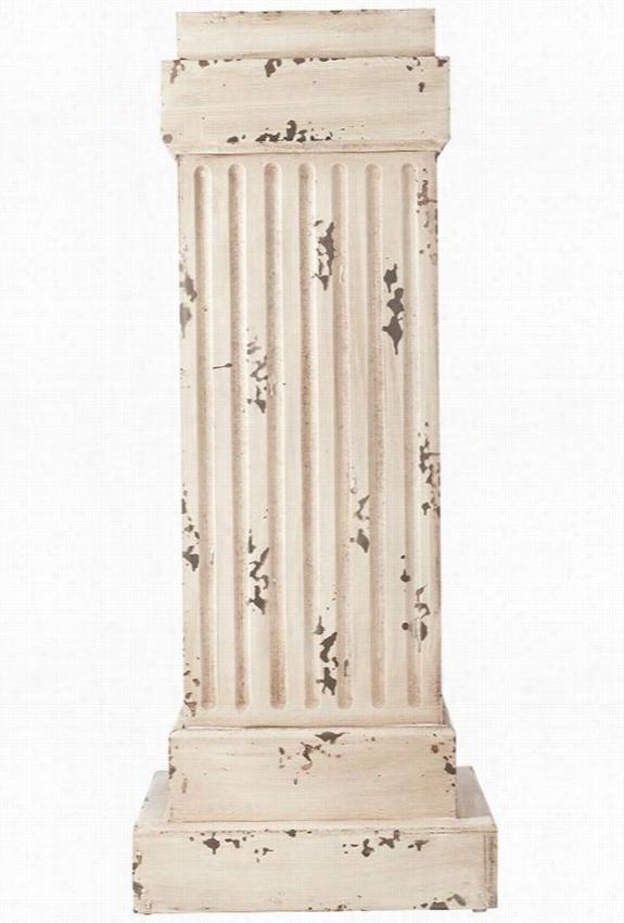 """Apollo Pedestal - 17""""Sqx42.5""""H, Ivory"""
