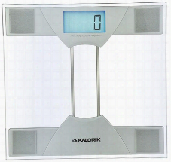 Electronic Bathroom Scale - 1.63Hx11.88Wx12, Silver