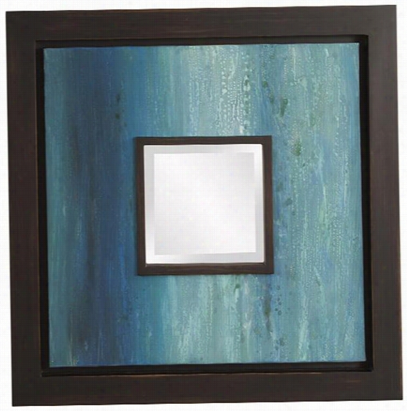 "Manet Mirror - 24""Square, Blue"