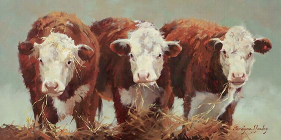 "Three Of A Kind Wall Art - 18""Hx36""Wx1.5""D, Carolyne Hawley"