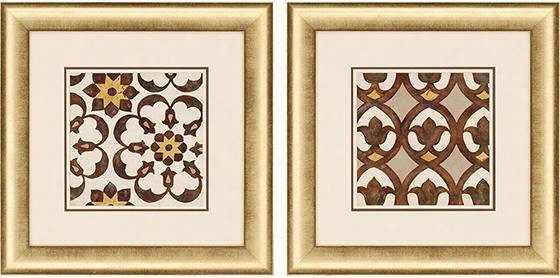 Winery Villa Tile Framed Wall Art - Set Of 2 - Set Of Two, Winery Villa Tile Ii