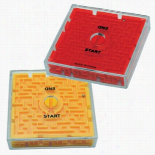 2-Sided Maze Puzzle - Yellow or Red