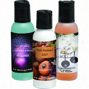All Natural 2 oz Dispenser Bottles - All Natural Shampoo