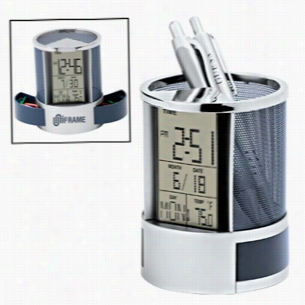 Calendar Alarm Clock Pen Holder