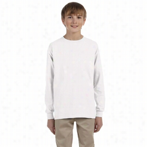 Gildan Youth 6 oz Ultra Cotton Long-Sleeve T-Shirt