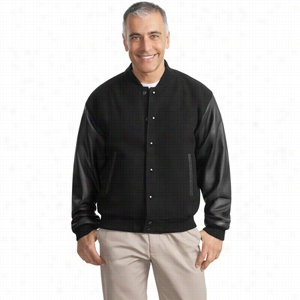 Port Authority Wool and Leather Letterman Jacket
