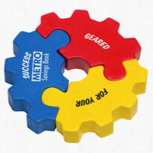 3 Piece Gear Puzzle Set