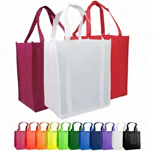 "Custom Non Woven Grocery Tote Bag -12"" X 13"