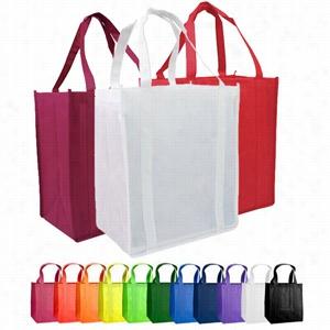 "Custom Non Woven Grocery Tote Bag -12"" X 13"