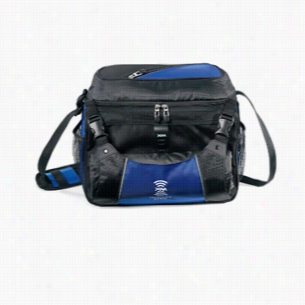 Nylon Dobby 18 Can Capacity Vertex Cooler Bag Black Royal