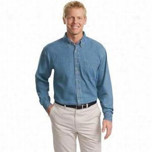 Port Authority Tall Long Sleeve Denim Shirt
