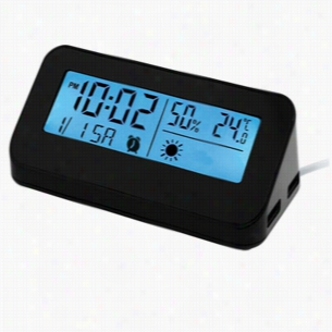 Weather Station USB Hub Alarm Clock
