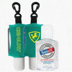 1/2 oz Antibacterial Hand Sanitizer with Custom Leash Neoprene Sleeve
