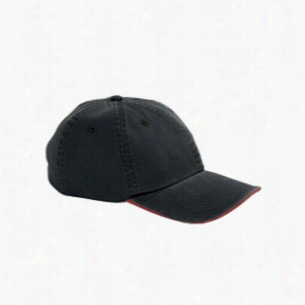 Big Accessories Washed Twill Sandwich Cap