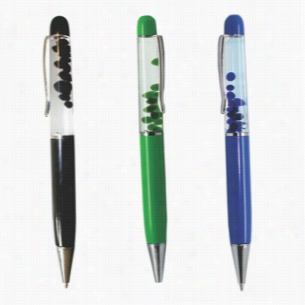 Floating Bubble Pens - Black, Blue & Green