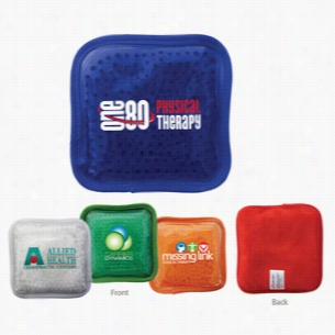 Plush Square Gel Bead Hot Cold Pack, Full Color Digital