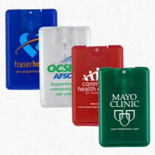 20 ml Antibacterial Hand Sanitizer Spray In Credit Card Shape Bottle (Spot Color Print)