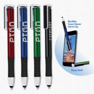 Hero Pen, Stylus, Phone Stand, Screen Cleaner
