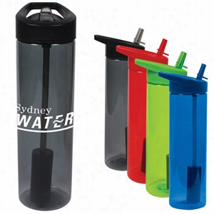 20 oz MS Plastic Filter Bottle w/ Flip Straw