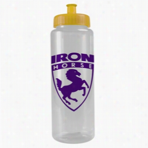 32 oz The Guzzler Transparent Color Sport Bottle