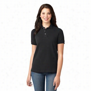 Custom Port Authority Ladies Pique Knit Polo Shirt