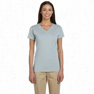 econscious 4.4 oz 100% Organic Cotton Short-Sleeve V-Neck T-Shirt