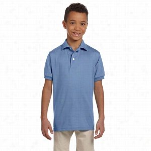 Jerzees Youth 5.6 oz 50/50 Jersey Polo with SpotShield