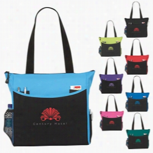"Polyester Multi Color Transport It Tote Bag 17"" X 14"