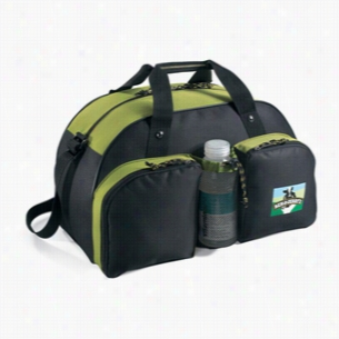 Polyester Water Bottle Sport Bag Ii With Adjustable Shoulder Strap Green Black