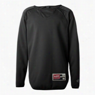 Rawlings - Youth Long Sleeve Flatback Mesh Fleece Pullover