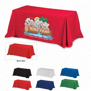 4-Sided Throw Style 6 ft Table Covers (PhotoImage 4 Color)