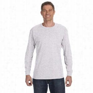 Hanes - Tagless 100% Cotton Long Sleeve T-Shirt