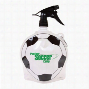 HydroPouch! 24 oz Soccer Ball Collapsible Spray Top Water Bottle - Patented