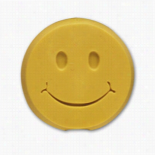 Pencil Top Stock Eraser- Happy Face, Assorted Colors