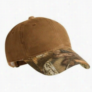 Port Authority Pro Camouflage Series Cotton Waxed Cap with Camouflage Brim